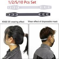 4/1 pcs <b>Adjustable Anti-slip Mask</b> Ear Grips Extension Hook Face ...