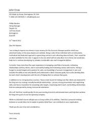 account manager cover letter example bar manager cover letter