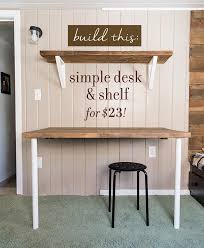 tutorial for a simple desk shelving and brackets on the cheap cheap office shelving