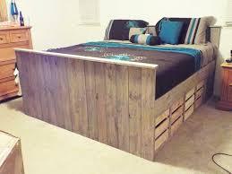 solid pallet bed amazing diy pallet furniture