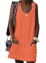 BLENCOT Womens <b>Summer Sleeveless Beach Dresses</b> Casual ...