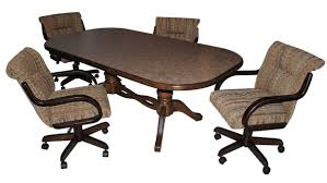 casual dining chairs with casters:  caster chairs with  x  table