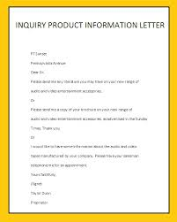 inquiry product information letterbusiness letter examples    inquiry product information letter
