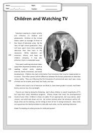 children and watching tv reading comprehension