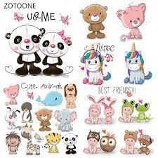 <b>ZOTOONE</b> Cute <b>Unicorn Stripes</b> Patches <b>Set</b> Iron on Transfer Bear ...