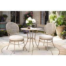 piece outdoor bistro set sling chairs french  piece patio bistro set