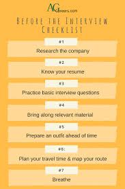 interviewing archives career cultivation agcareers com career before the interview checklist