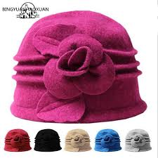 <b>BINGYUANHAOXUAN Women</b> Dome Fedora 100% Wool <b>Hat</b> ...