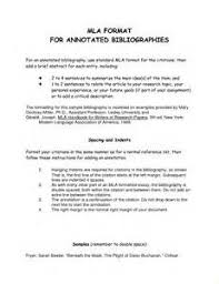 Annotated bibliography mla example website