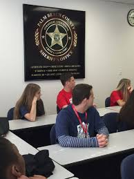 sccj hosted first ever summer camp for high school students fau students being briefed by pbso
