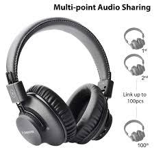 Avantree <b>Bluetooth 5.0</b> Over Ear Foldable <b>Headphones</b>, Hi Fi Stereo ...