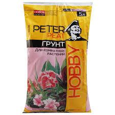 <b>Грунт Peter</b> Peat Hobby Торфяной <b>питательный</b> для комнатных ...