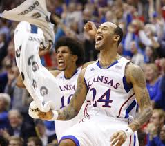 kansas players travis releford 24 and kevin young go wild after kansas players travis releford 24 and kevin young go wild after a 360 jam by mclemore 2 16 13 rock chalk photos kevin o leary and