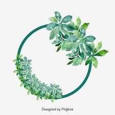 Round Fresh Cartoon <b>Hand Painted</b> Floral Border Elements ...