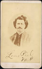 louis riel the canadian encyclopedia carte de e portrait of louis riel