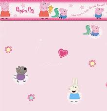 zones bedroom wallpaper: peppa pig border self adhesive featuring peppa and george