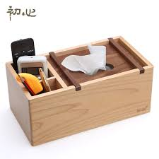 Wood <b>tissue</b> remote control storage <b>box fashion multifunctional</b> ...