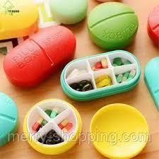 <b>Органайзер для таблеток на</b> 6 ячеек.Красный | <b>Органайзер для</b> ...