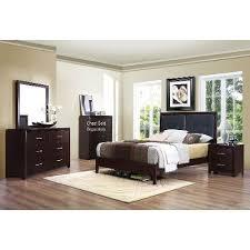 espresso contemporary casual 6 piece queen bedroom set edina bedroom furniture set