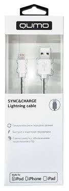 <b>Кабель Qumo USB</b> - Lightning (MFI PVC+СoilL) 1 м — купить по ...