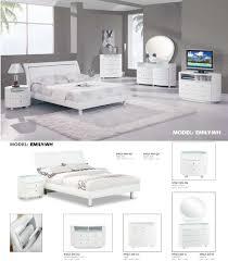 emily bedroom set light oak: global furniture emily glossy white bedroom set  pieces