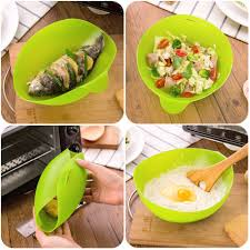 <b>Multifunction</b> Silicone Fish Kettle Microwave <b>Steamer</b> kitchen <b>basket</b> ...