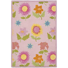 safavieh kids pink floral area rug cheerful home office rug wayfair safavieh