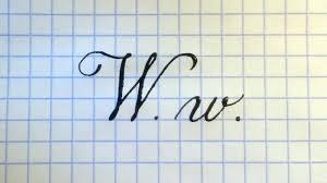 Буква W Урок русская каллиграфия Latin alphabet calligraphy ...