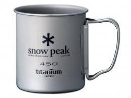 <b>Титановая кружка Snow Peak</b>. 450 мл (одностенная) MG-143