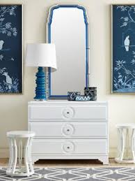 white and blue dreamy hues bungalow 5 savoy 3 drawer flanked by the anne bungalow 5 white lacquered