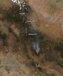 aqua satellite sees cowboy and mormon fires in arizona nasa s aqua satellite sees cowboy and mormon fires in arizona