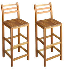 Tidyard <b>Bar Chairs 2 pcs</b> Wooden Barstool- Buy Online in Mongolia ...
