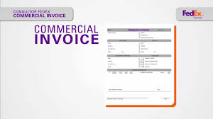 commercial invoice template fedex customs pro forma invoice air commercial invoice template fedex customs pro forma invoice air in fillable commercial invoice