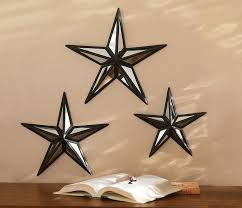 metal star wall decor: collections etc mirrored barn star wall decor trio mirror glass collections etc and barns