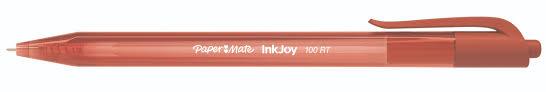 <b>Ручка шариковая автоматическая</b>, 1 мм, красный цв., пластик ...