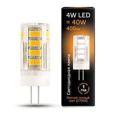 Светодиодная <b>лампа Gauss LED G4</b> AC185-265V 4W 2700K ...