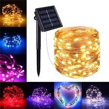 <b>10M 100LED Solar</b> Powered 2 Modes Fairy String Light Party ...