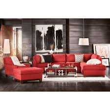good sectional living room sets furniture soho  piece sectional with right facing chaise red by kroehler