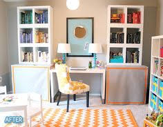 maybe not so much color but looks totally functional for both office and playroom better after officeplayroom makeover with ikea amazing playroom office shared space