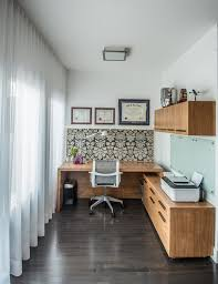 Delighful Home Office Small With Abstract Wallpaper N Intended Ideas