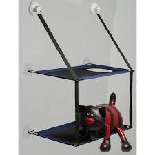 ZooOne. <b>Гамак на окно</b> двухъярусный, для кошек (синий) | Купить ...