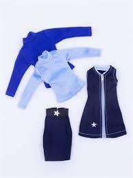 <b>Набор одежды для куклы</b> 29 см: сарафан, юбка, 2 бадлона ...