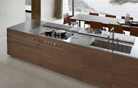 kitchen island integrated handles arthena varenna: