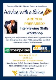 wvu tech advice a slice interviewing skills enterprise interviewing workshop jpg