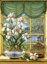 Window   flower window | Art. képek bent | Картины, <b>Окно</b>, <b>Цветы</b>