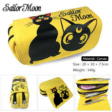 Anime <b>Sailor Moon</b> Pen Bag Canvas <b>Printing</b> Multifunction Pencil ...