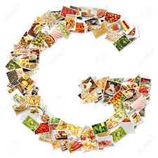 letter g food collage concept art stock photo picture and letter g food collage concept art stock photo 9691830