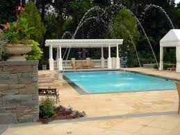 exclusive materials for pool deck design ideas white wooden pergola with tiled pool deck design ideas