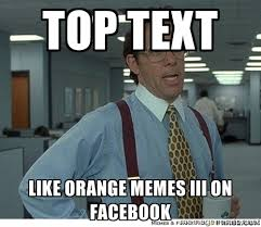 TOP TEXT LIKE ORANGE MEMES III ON FACEBOOK - That would be great ... via Relatably.com