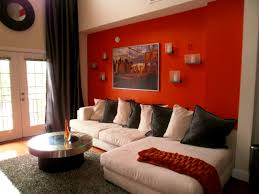 apartmentshandsome decorating ideas using orange sofa living room gray and sheer curtains brown color burnt orange living room furniture